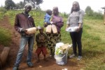 Maggie with Stephen NJoroge's family