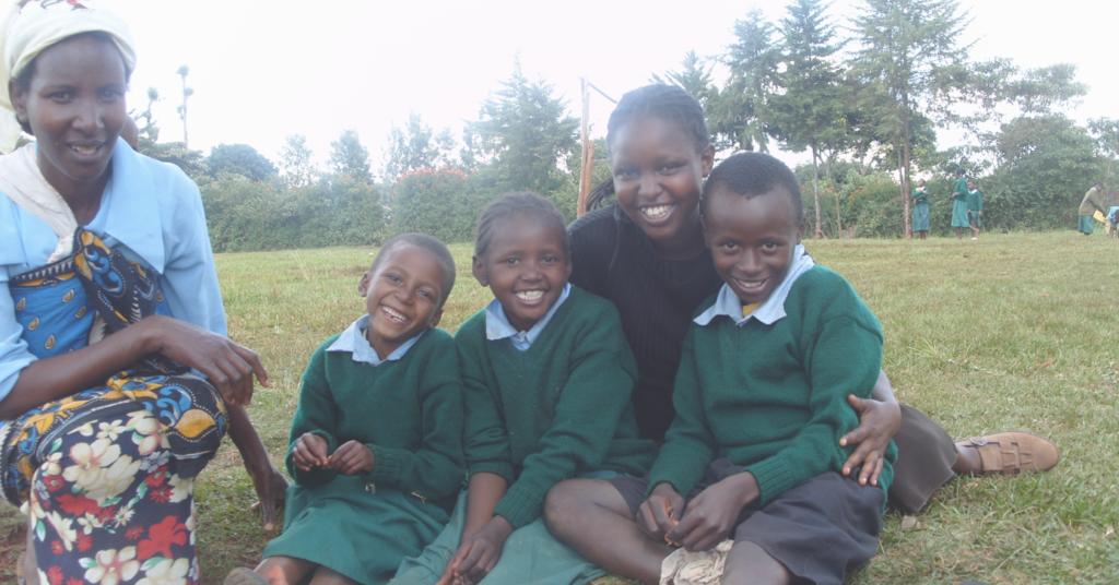 Mary Nduta and children